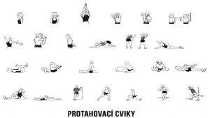 protahovací cvičení obrázek
